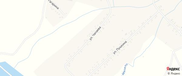 Улица Чапаева на карте села Месели с номерами домов