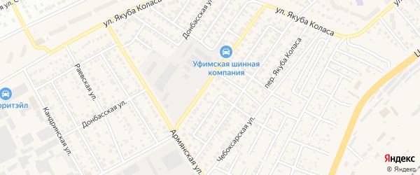 Донбасский 2-й переулок на карте Уфы с номерами домов