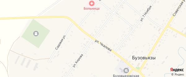 Улица Чкалова на карте села Бузовьязы с номерами домов