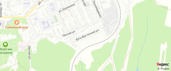 Юговосточная улица на карте Кумертау с номерами домов