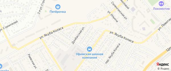 Архангельский переулок на карте Уфы с номерами домов