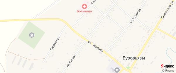 Улица Кирова на карте села Бузовьязы с номерами домов