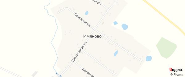 Школьная улица на карте деревни Имяново с номерами домов