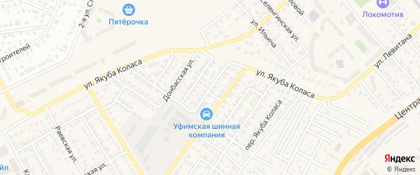 Майкопский переулок на карте Уфы с номерами домов