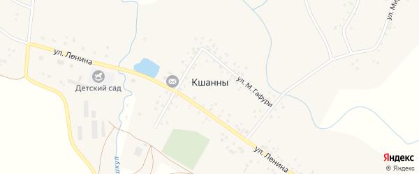 Луговая улица на карте деревни Кшанны с номерами домов
