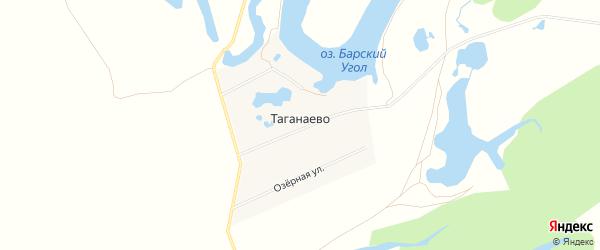 Карта деревни Таганаево в Башкортостане с улицами и номерами домов