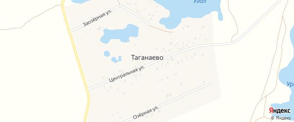 Центральная улица на карте деревни Таганаево с номерами домов