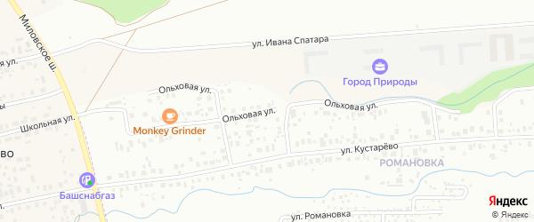Ольховая улица на карте Уфы с номерами домов