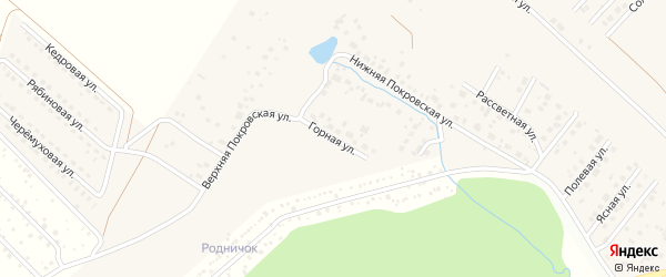 Горная улица на карте села Миловки с номерами домов