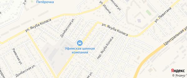 Переулок Черняховского на карте Уфы с номерами домов