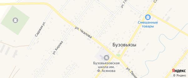 Улица 7 Ноября на карте села Бузовьязы с номерами домов