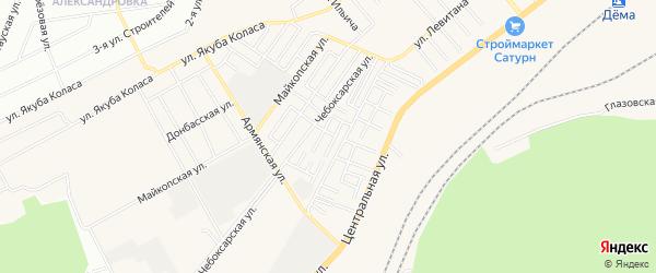 СНТ Дружный на карте Уфимского района с номерами домов
