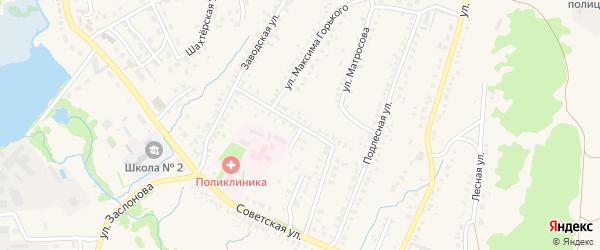 Улица М.Горького на карте села Ермолаево с номерами домов