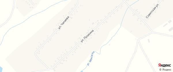 Улица Пушкина на карте села Манеево с номерами домов