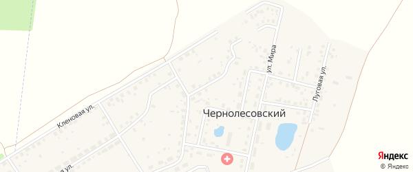 Солнечный переулок на карте села Чернолесовского с номерами домов