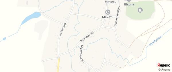 Торговая улица на карте деревни Большие Шады с номерами домов