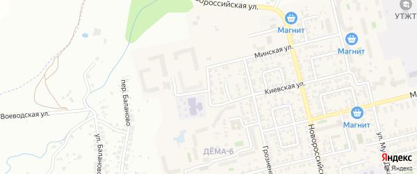 Электровозная улица на карте Уфы с номерами домов