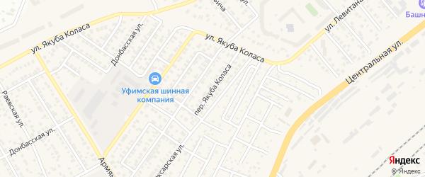 Переулок Якуба Коласа на карте Уфы с номерами домов