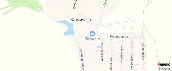 Фомичевская улица на карте деревни Фомичево с номерами домов