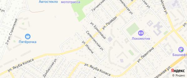 Селенгинская улица на карте Уфы с номерами домов