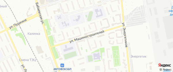Улица Машиностроителей на карте Кумертау с номерами домов