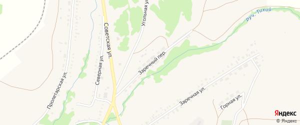 Заречный переулок на карте села Ермолаево с номерами домов