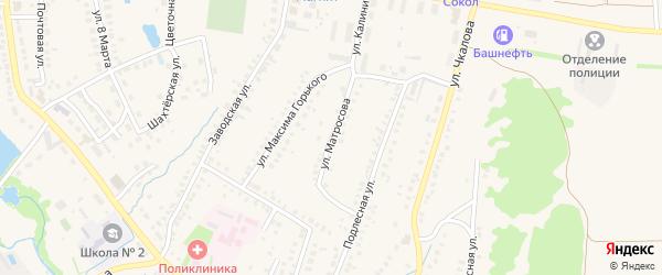 Улица Матросова на карте села Ермолаево с номерами домов
