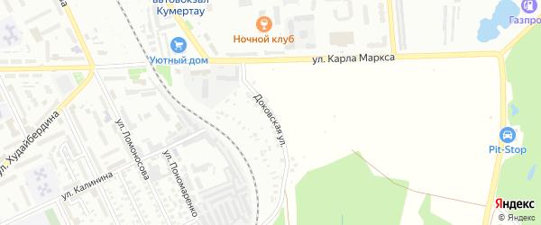 Доковская улица на карте Кумертау с номерами домов