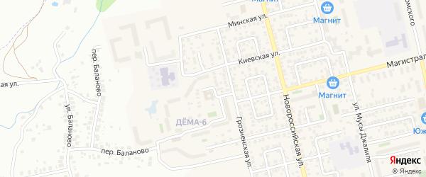 Электровозный переулок на карте Уфы с номерами домов
