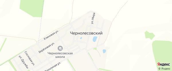 Карта села Чернолесовского в Башкортостане с улицами и номерами домов