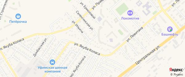 Улица Черняховского на карте Уфы с номерами домов