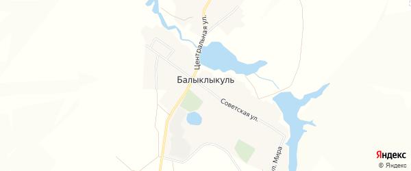 Карта деревни Балыклыкуля в Башкортостане с улицами и номерами домов