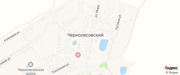 Улица Мира на карте села Чернолесовского с номерами домов