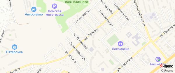 Улица 18 Партсъезда на карте Уфы с номерами домов