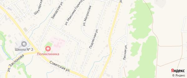 Подлесная улица на карте села Ермолаево с номерами домов