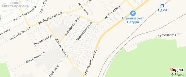 СНТ Труд на карте Уфимского района с номерами домов