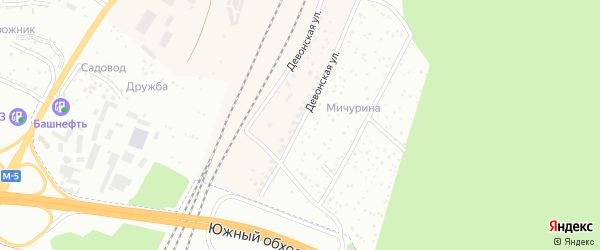 Девонская улица на карте Уфы с номерами домов
