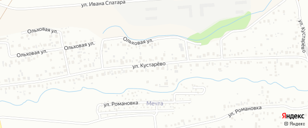 Улица Кустарево на карте Уфы с номерами домов
