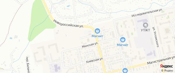 Дюртюлинская улица на карте Уфы с номерами домов