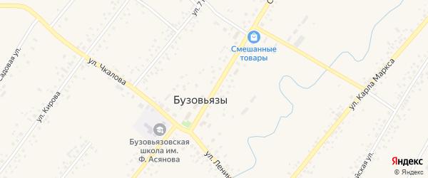 Улица М.Гафури на карте села Бузовьязы с номерами домов
