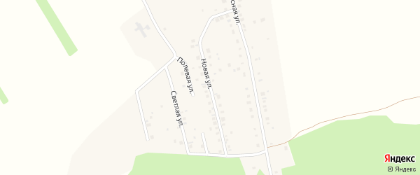 Новая улица на карте села Чернолесовского с номерами домов