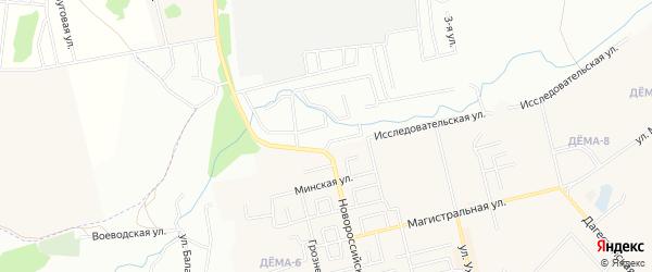 СНТ Строитель на карте Кушнаренковского района с номерами домов