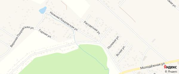 Российская улица на карте села Миловки с номерами домов