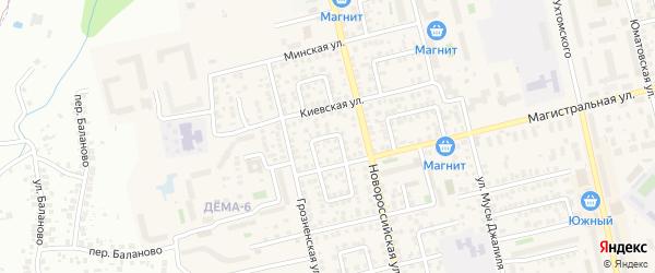 Шпальный переулок на карте Уфы с номерами домов