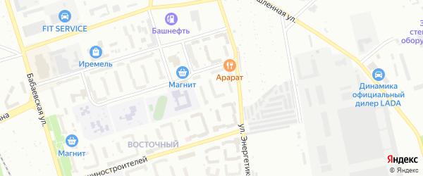 Улица Массив 22 Энергетиков на карте Кумертау с номерами домов