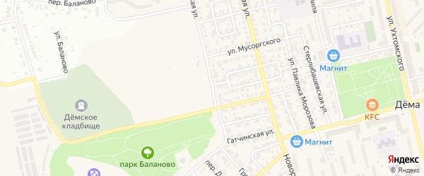 Грозненская улица на карте Уфы с номерами домов