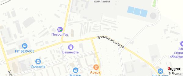 Промышленная улица на карте Кумертау с номерами домов