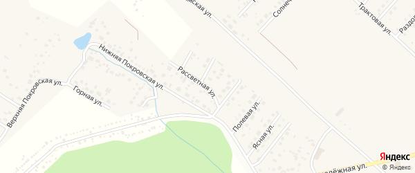 Рассветная улица на карте села Миловки с номерами домов