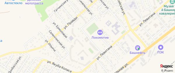 Ильменская улица на карте Уфы с номерами домов