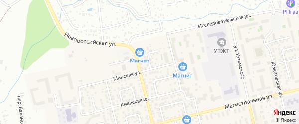 Дюртюлинский переулок на карте Уфы с номерами домов